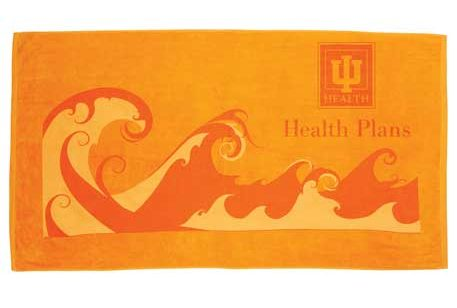 orange beach towel summer promo product click link to buy