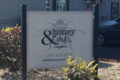 Honey & Me sign