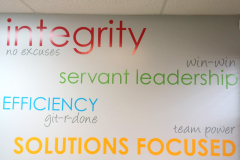 Spotlight wall graphics
