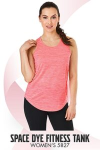 Pink heathered tank top