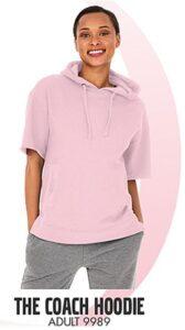 soft pink hoodie