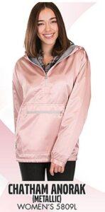 1/2 zip pullover pink metallic